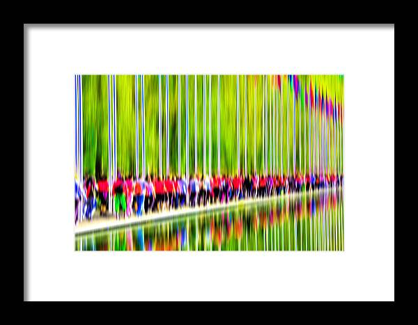 Abstract Framed Print featuring the digital art People Walking In The City-1 by Joel Vieira