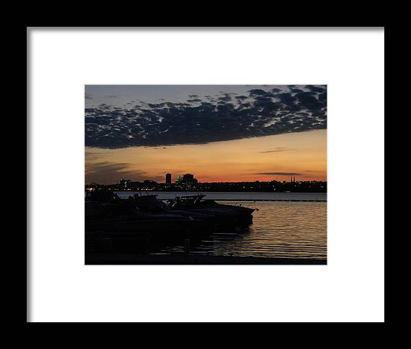 Cityscape Framed Print featuring the photograph Peoria Skyline by Helen ONeal