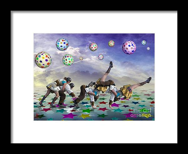 Circus Framed Print featuring the digital art Perfect Coupling by Rosa Cobos