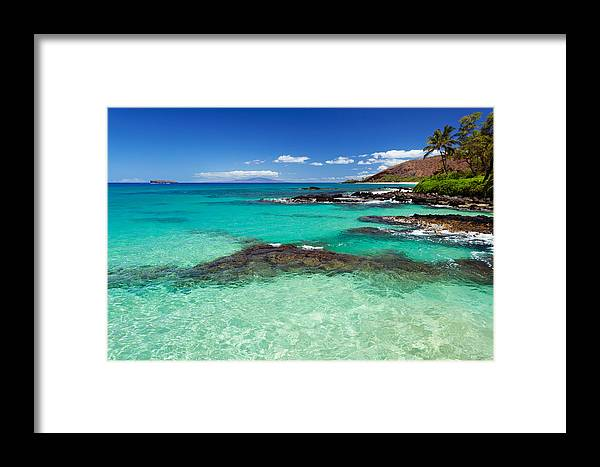 Blue Framed Print featuring the photograph Perfect Day At Makena by David Olsen