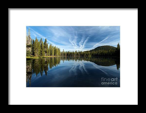 Summit Lake Framed Print featuring the photograph Perfect Reflection by Adam Jewell