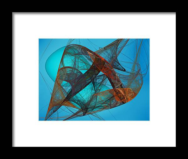 Fractal Framed Print featuring the digital art Perigee by Jeff Iverson