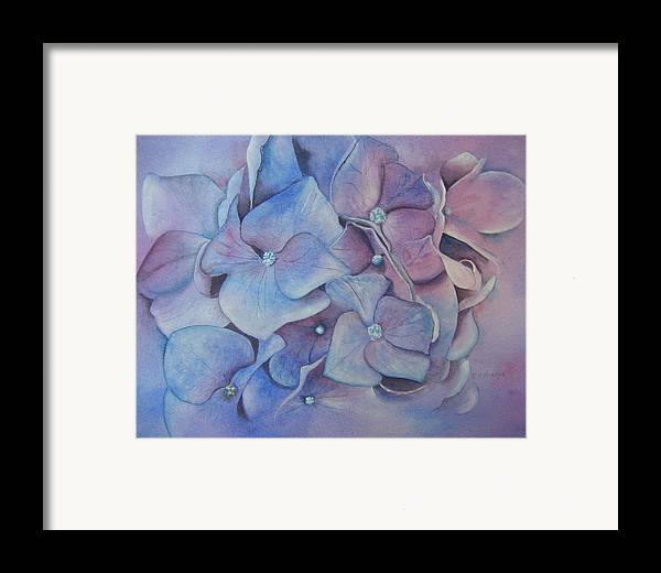 Close Focus Floral Framed Print featuring the painting Petals by Patsy Sharpe