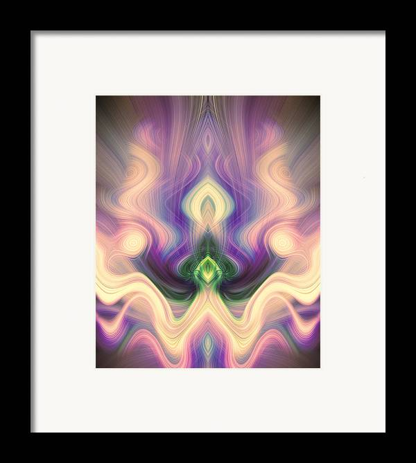 Abstract Framed Print featuring the digital art Petition In Pink And Purple by Linda Phelps