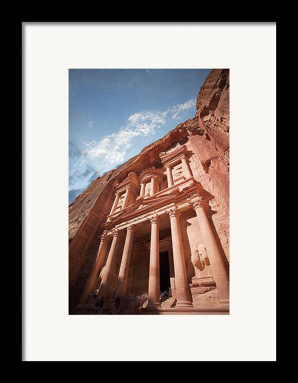 Vertical Framed Print featuring the photograph Petra, Jordan by Michael Holst Images
