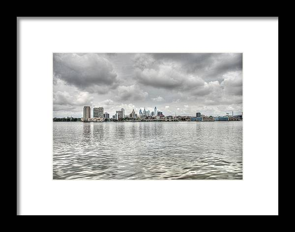 Philadelphia Framed Print featuring the photograph Philadelphia Across The Water by Jennifer Ancker