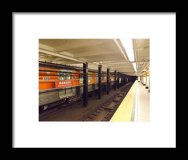 Train Framed Print featuring the photograph Philadelphia Broadstreet Subway by LaTroy Baldwin