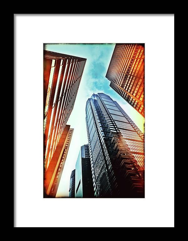 Philadelphia Framed Print featuring the photograph Philadelphia Gotham by Stacey Granger