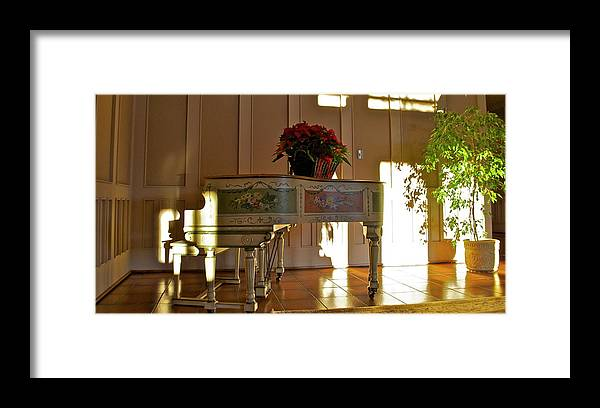 Framed Print featuring the photograph Piano in Light by Lori Leigh