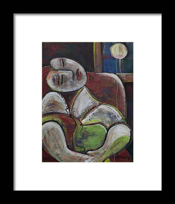 Picasso Framed Print featuring the painting Picasso Dream For Luna by Laurie Maves ART