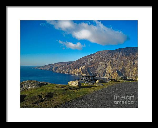 Slieve League Framed Print featuring the photograph Picnic Time At Slieve League Ireland by Black Sun Forge