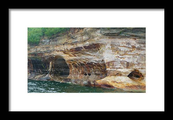 Pictured Rocks Framed Print featuring the photograph Picture Rocks Splendor by Michael Carrothers