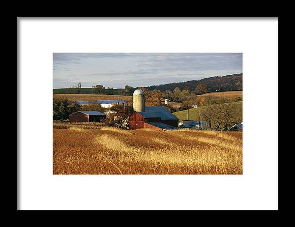 North America Framed Print featuring the photograph Picturesque Farm Photographed by Raymond Gehman