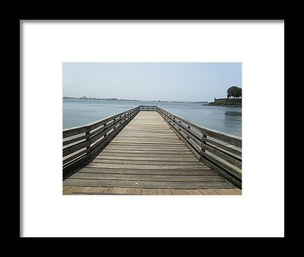 Pier Framed Print featuring the photograph Pier In San Juan Puerto Rico by Tamika Carroll