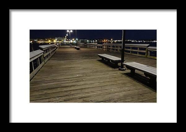 Pier Framed Print featuring the photograph Pier by Jessica Cruz