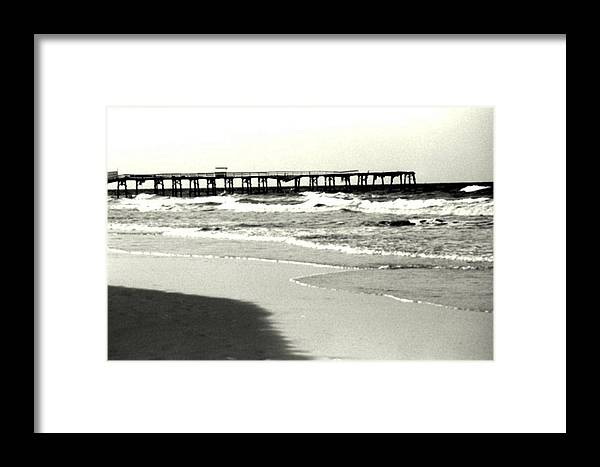 Pier Framed Print featuring the photograph Jacksonville Beach Florida Pier 1997 by Phil Cappiali Jr
