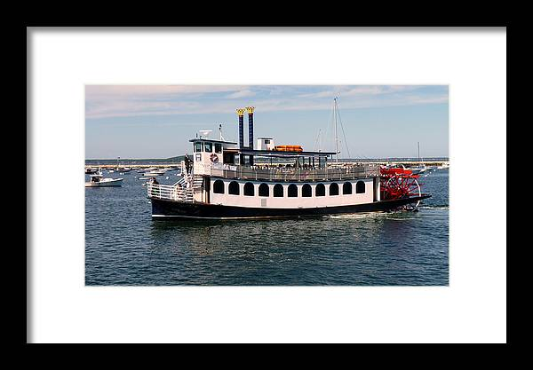 Paddleboat Framed Print featuring the photograph Pilgrim Belle Harbor Cruise by Janice Drew