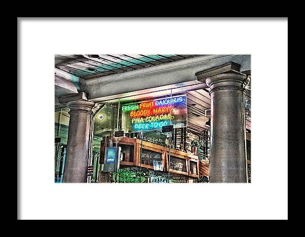 New Orleans Framed Print featuring the photograph Pina Coladas by Brenda Bryant