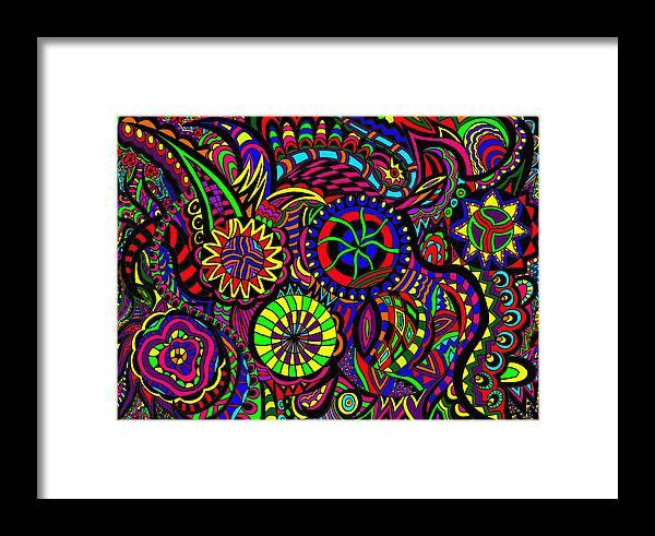 Pinball Art Framed Print featuring the painting Pinball Anyone by Karen Elzinga