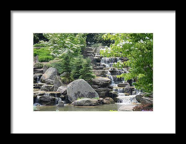Landscape Framed Print featuring the photograph Pine Falls by Michael Carrothers