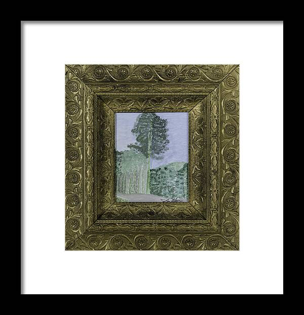 Pine Framed Print featuring the painting Pine Trees by Glenn Olson