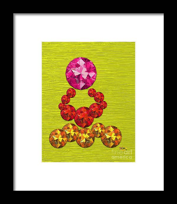 Digital Painting Framed Print featuring the digital art Pink Gem Crown by Rod Seeley