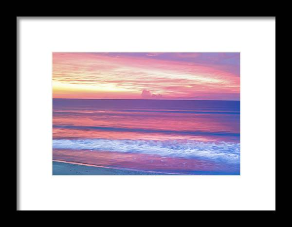 Sunrise Framed Print featuring the photograph Pink Ocean Sunrise by Patrick M Lynch