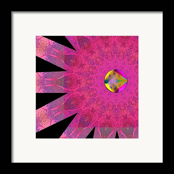 Pink Framed Print featuring the digital art Pink Ribbon Of Hope by Alec Drake