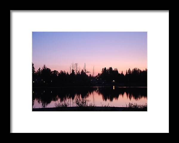 Pink Framed Print featuring the photograph Pink Sky At Night by Michael Merry