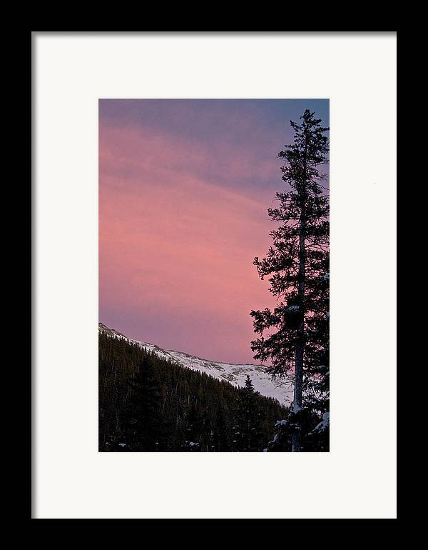 Landscape Framed Print featuring the photograph Pink Sunset by Lisa Spencer