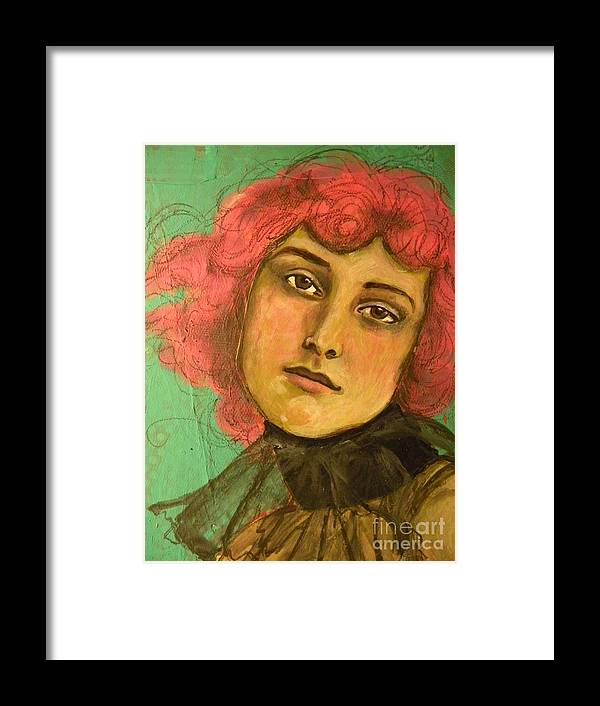 Framed Print featuring the mixed media Pink by Terra Sheridan