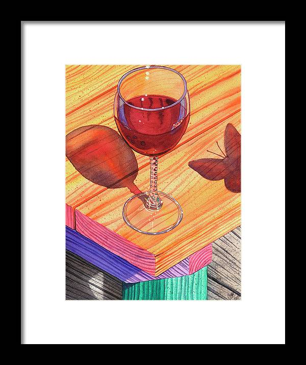 Wine Framed Print featuring the painting Pinot Noir by Catherine G McElroy