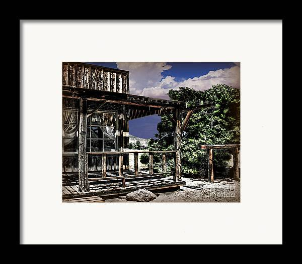 Old Photography Framed Print featuring the photograph Pioneer House by Danuta Bennett