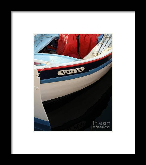 Boat Framed Print featuring the photograph Piou - Piou by Lainie Wrightson