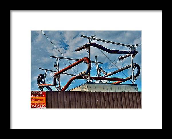 High Framed Print featuring the photograph Pipes by Larry Simanzik