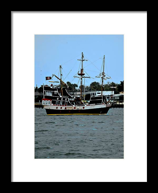 Ship Framed Print featuring the photograph Pirate Ship Of The Matanzas by DigiArt Diaries by Vicky B Fuller