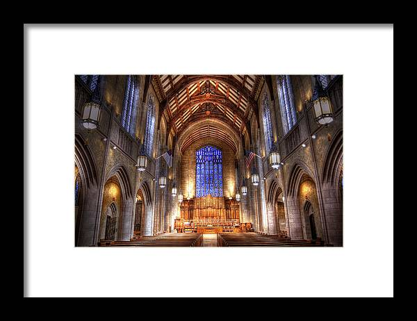 Hdr Framed Print featuring the photograph Place of Prayer by Brian Fisher