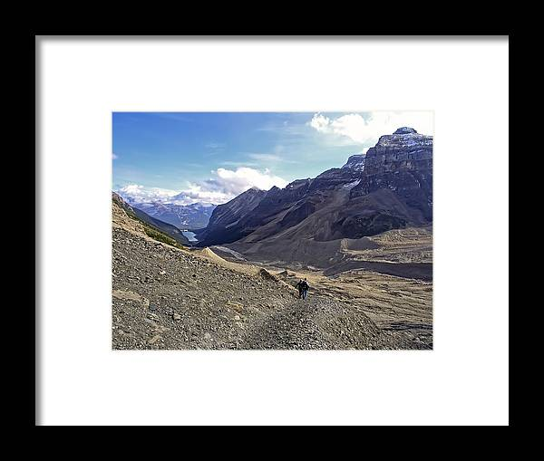 lake Louise Framed Print featuring the photograph Plain Of Six Glaciers Trail - Lake Louise Canada by Daniel Hagerman