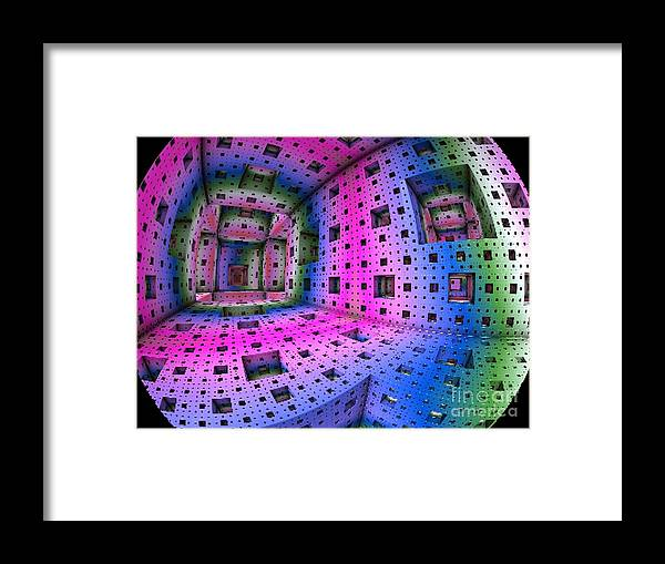 Galaxy Framed Print featuring the digital art Planetary Portal by Vicki Lynn Sodora