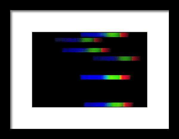 Pleiades Framed Print featuring the photograph Pleiades Emission Spectra by Dr Juerg Alean