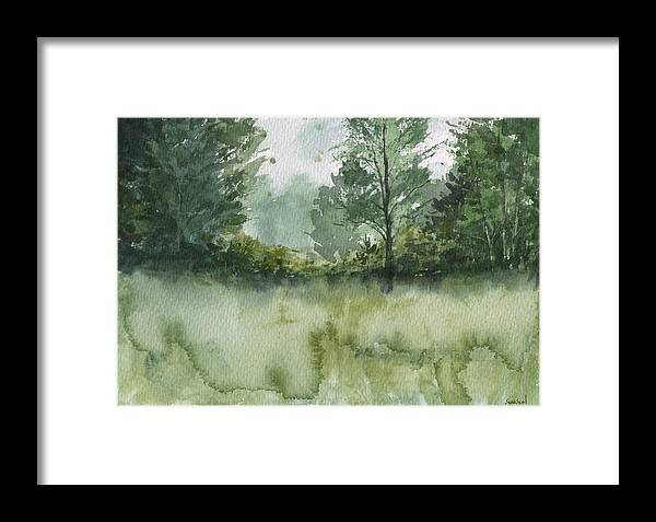Landscape Framed Print featuring the painting Plein Air 1 by Sean Seal