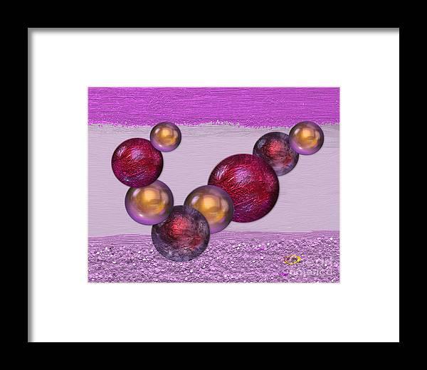 Digital Painting Framed Print featuring the digital art Plenty Of Purple by Rod Seeley