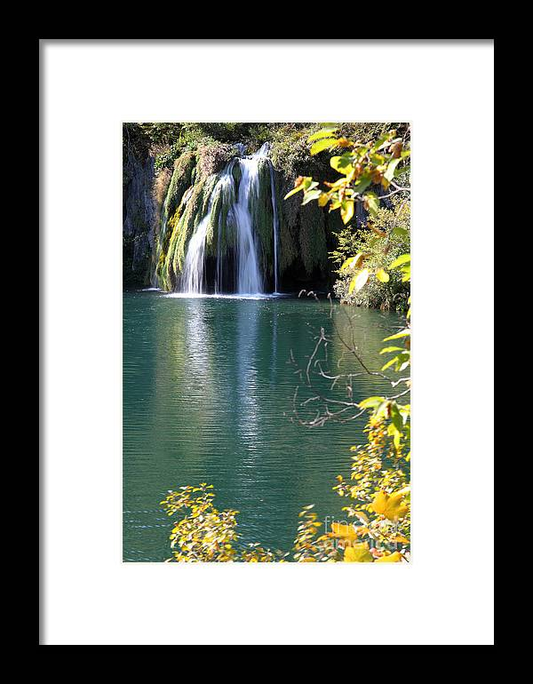 Plitvice Framed Print featuring the photograph Plitvice by Milena Boeva