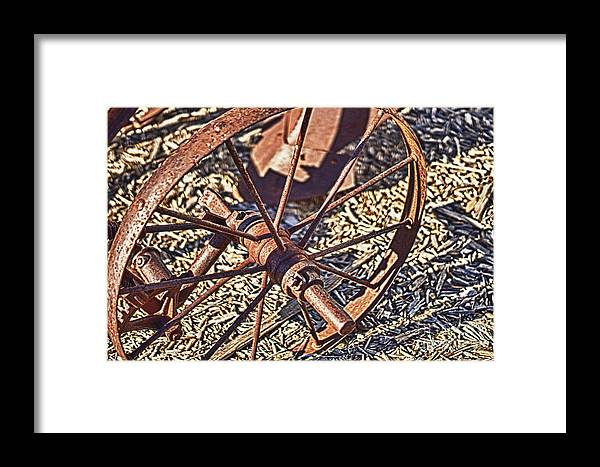 Wheel Framed Print featuring the photograph Plow Wheel by Jeremy Linot