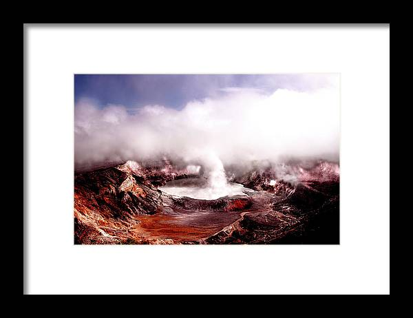 Costa Rica Framed Print featuring the photograph Poas Volcano by John Banegas