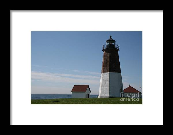 Light House Framed Print featuring the photograph Point Judith by Kerryn Davis