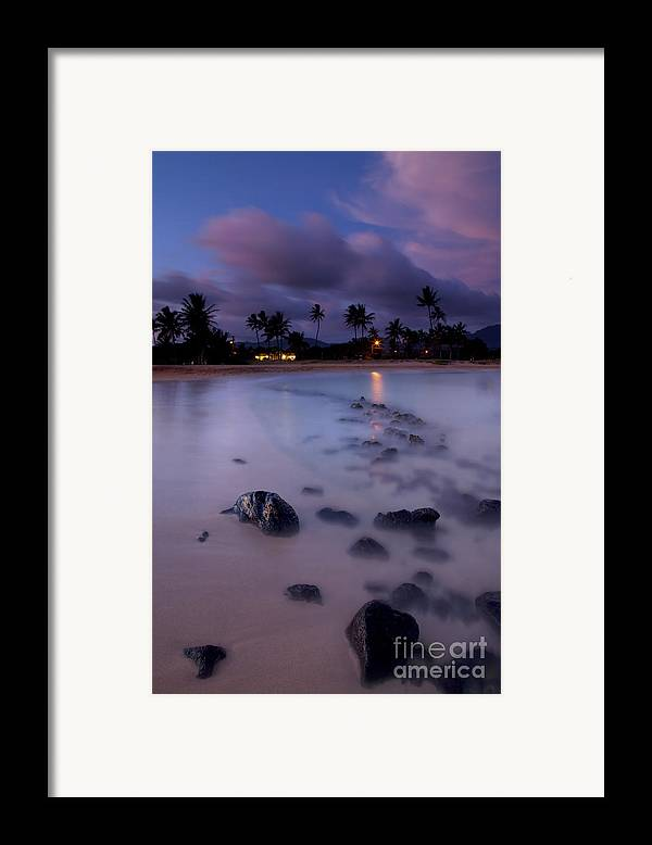 Poipu Framed Print featuring the photograph Poipu Evening Storm by Mike Dawson