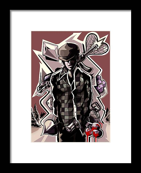 Poker Framed Print featuring the digital art Poker Vice And Playing Your Cards Too Right. by Van Reiley