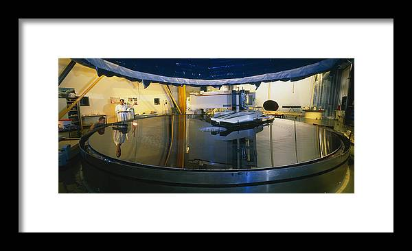Gemini Telescope Framed Print featuring the photograph Polishing Of Mirror For Use In Gemini Telescope by David Parker