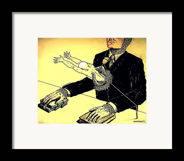 Politics Without Idealism Framed Print featuring the digital art Politics Without Idealism by Paulo Zerbato